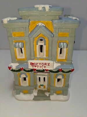 California Creations Doctor's Office Hand Painted Plaster Building Christmas