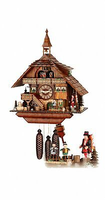 Cuckoo Clock  with moving dancers, musicians and turning mi.. HH 68/1/8 V RM NEW