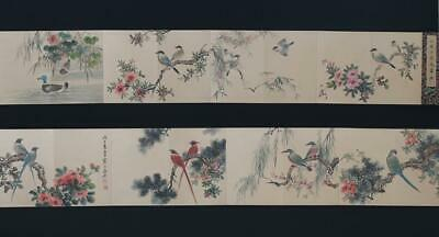 Fine Antique Chinese Hand-painting Scroll Jiang Handing Marked-flower