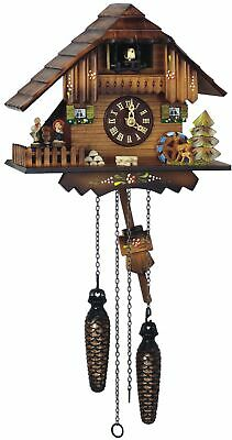 Quartz Cuckoo Clock Little black forest house, with music SC Q 74/10 NEW