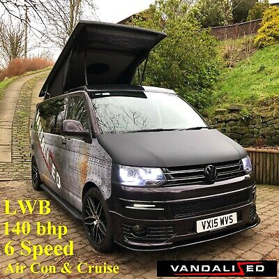 T5.1 VW Transporter camper van Lwb 6speed 140bhp SLINE Air Con,Cruise Blackberry