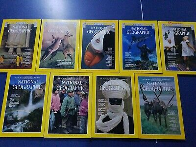 Lot of 9 National Geographic Magazines issues from 1979 with Maps Nice! NAT geo