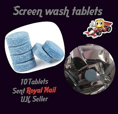 Screen Wash Tablets 10 Tablets For Car Windscreen Washer Fluid 10 = 50 Litres