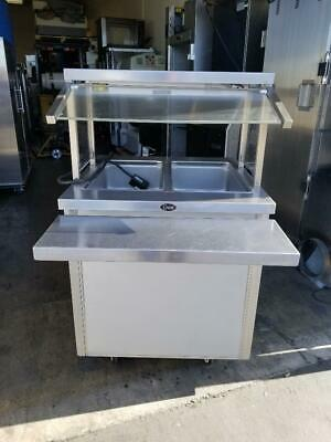 """Randell RAN HTD-2 Mobile Hot Food Counter Works Good 30"""" x 30"""" x 52""""h on Casters"""