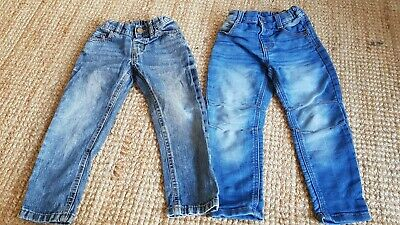 Boys 2-3 Years Jeans x2 pairs Bundle Trousers Marks And Spencer & FF