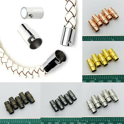 10pcs Magnetic Clasps Leather Cord Bracelet Connector DIY For Jewelry Making