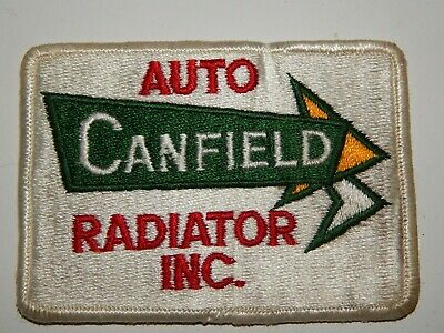 Uniform Hat Patch Iron Sew Mechanic Auto Canfield Radiator 80's NOS Vehicle