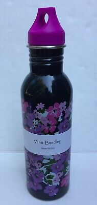 Vera Bradley 25oz Stanless Steel FLOWER GARDEN Water Bottle 240040-M43 *NWT*