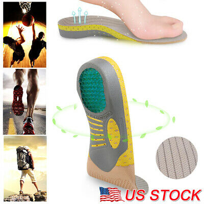 2PCS Orthotic Insoles for Plantar Fasciitis Flat Feet Arch Support Shoe Inserts