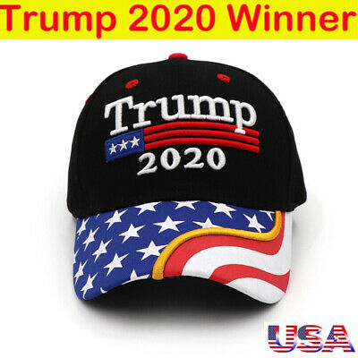 President Donald Trump 2020 USA Flag Baseball Cap Hat Keep America Great Forever