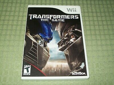 Transformers: The Game (Nintendo Wii) CIB Complete Action Shooter Game