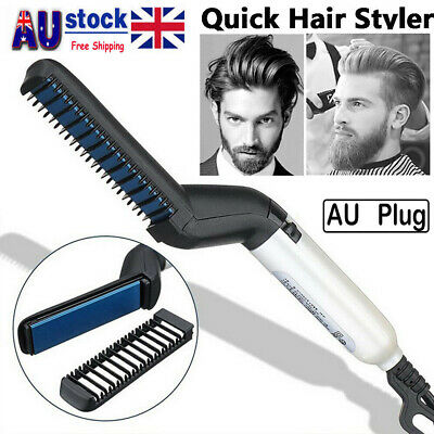 Quick Beard Straightener Hair Styler Multifunctional Comb Curler Show Cap Salon