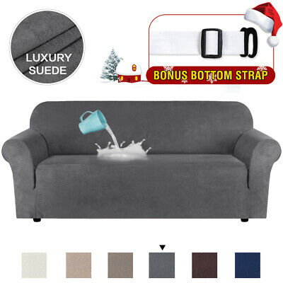 Water Repellent Velvet Plush Sofa Cover Furniture Protector Suede Couch Covers
