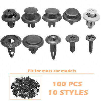 100pcs Car plastic Clips rivets 10kinds Car Door Trim bumper fastener buckle AHS