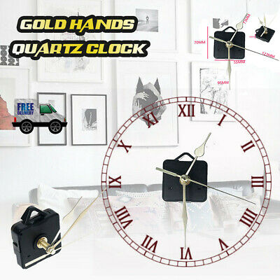 Replacement Quartz Clock Movement Mechanism Motor & Metal Hands & Fitting New