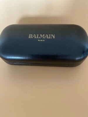 Balmain Paris Leather Hard Cover Sunglasses Case Excellent Condition!