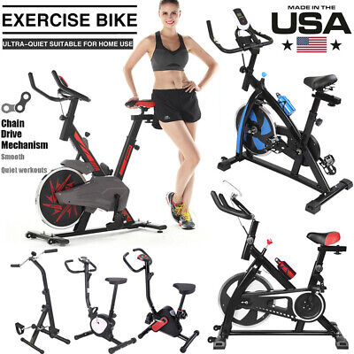 Fitness Bicycle Stationary Indoor Cardio Upright Exercise Fitness Cycling Bike
