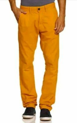 "O'NEILL Mens Orange Friday Night Chino Pants Trousers 38"" Waist Regular BNWT"