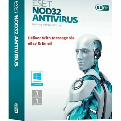 ESET NOD32 NOD 32 Antivirus 2020 1 PC ,3 Years, GLOBAL, ESD - Instant Delivery