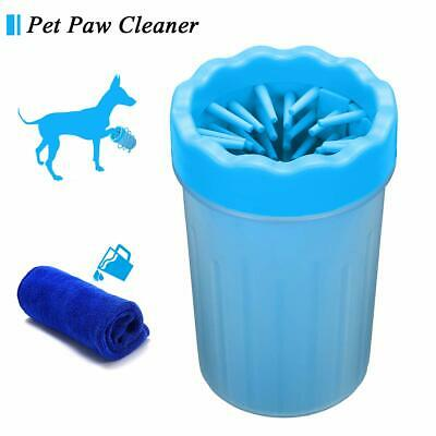 Dog Paw Cleaner, Focuspet Portable Pet Cleaning Brush Cup Dog Foot Cleaner Dog F