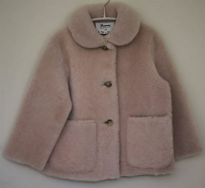 Bonpoint Couture Girls Pink Lambskin Forever Jacket 4 Years