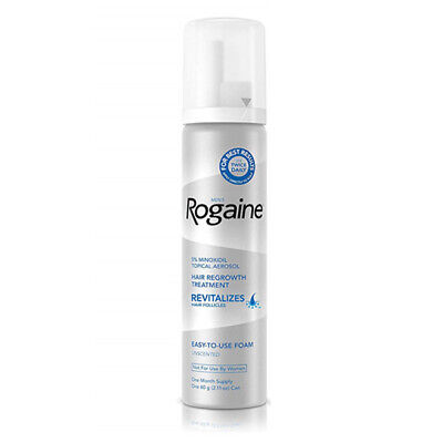 Rogaine 5% Minoxidil Foam for Men's Hair Loss n Hair Regrowth 1 Month Supply