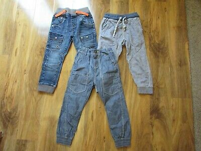 3 x Next pairs boys 5 years trousers / jeans - Very good / excellent condition