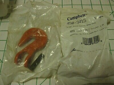 "2 Campbell 450-3415 5/16"" Alloy Clevis Grab Hook 5100# LIMIT"
