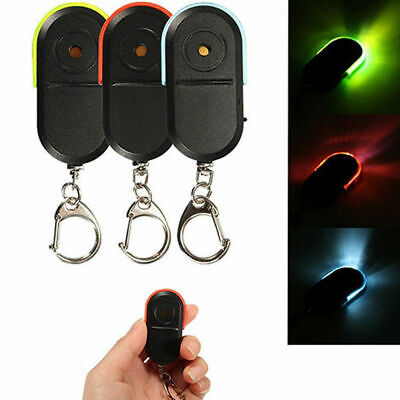 Torch Led Light Whistle Lost Key Finder Keyring