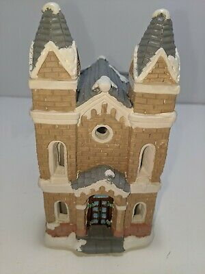 Vintage California Creations Church Hand Painted Plaster Bldg Christmas