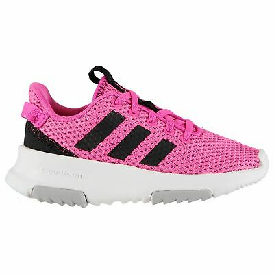 Kids Girls adidas CF Racer Trainers Runners Lace Up Breathable New
