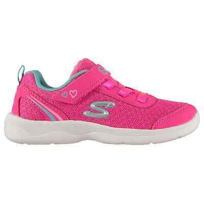 Kids Girls Skechers Sparkle 2 Trainers Infant Runners Elasticated Laces New