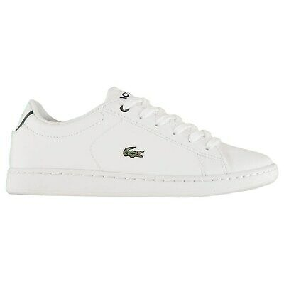 Kids Lacoste Carnaby Trainers Low Breathable New