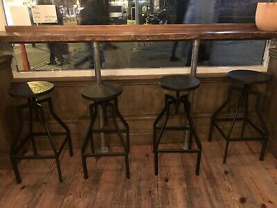 Industrial Bar Stool With Swivel Seat x 4