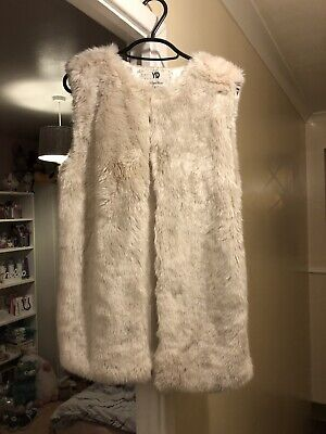 Girls Cream Fur Gillet Age 12-13 Yrs