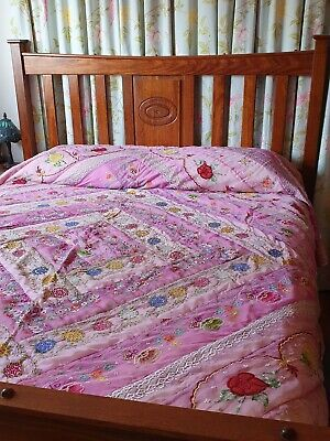 Absolutely Stunning Embroidered Bed Topper cover 255cm X 220cm