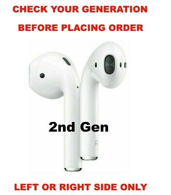 OEM Genuine Apple AirPods 2nd Generation Air Pods Select Left Right or Both Side