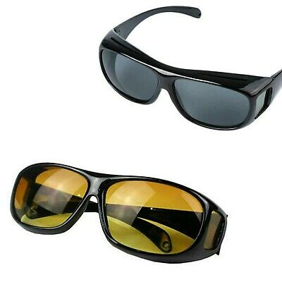 HD Anti Glare Night Vision Driving Sunglasses Unisex Over Wrap Around Glasses