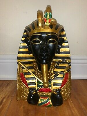 Large EGYPTIAN Pharaoh KING TUT TUTANKHAMUN Bust STATUE