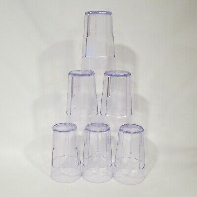 "Cambro Laguna Tumblers (LT22) 22oz, 6"" Tall - Lot of 6 (FREE FAST SHIPPING)"