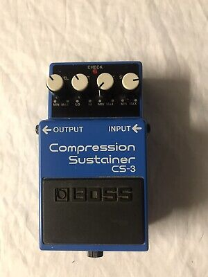 Boss CS-3 Compression Sustainer Guitar Effects Pedal Made In Taiwan Blue Classic
