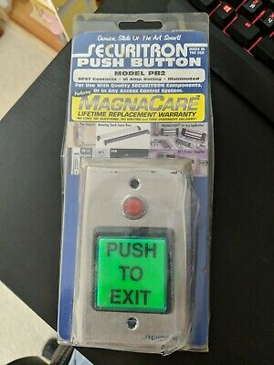 Securitron Pb2 Access Control Push Button Single Gang Green/Red New Old Stock