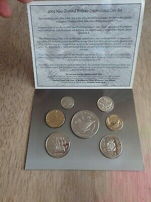 2004 RAM New Zealand Brilliant Uncirculated Coin Set - $5 Chatham Island Taiko