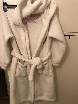 Girls Jasper Conran Debenhams Dressing Gown Age 9-10 Yrs Soft Hoodie Warm