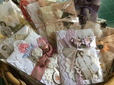 Junk Journal DIY Craft Embellishment pack lace doilies ephemera sewing SNIPPETS