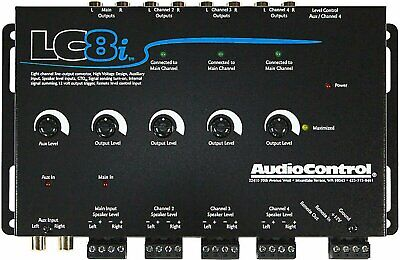 AudioControl LC8i, 8 Channel Line Out Converter with Auxiliary Input