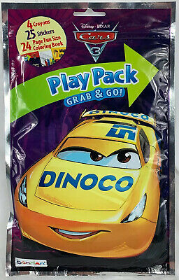 Bendon Cars 3 Coloring Activity Play Pack Think Fast New