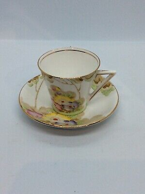 Art Deco Woodlands Standard China Cup And Saucer.  Exc Con.