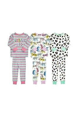 BNWT Next Girls 7-8 Years Snuggle Fit Pyjamas with Leopard, Multicolour Design