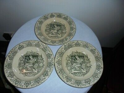 3 Antique Aesthetic Movement Dishes/Bowls